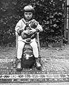 Ball, teddy bear, wicker chair, carpet, sailor blouse Fortepan 9143.jpg