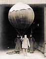 Balloon and Apparatus for sounding upper air currents, ready for launching by Professor H.H. Clayton from the Department of Liberal Arts at the 1904 World's Fair.jpg