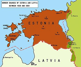 Estonian Soviet Socialist Republic - Border changes of Estonia after World War II.