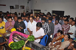 Balu Mahendra - Image: Balu Mahendra funeral (10)