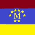 Bandera de Metropolitania (Con el NUEVO ESCUDO).png