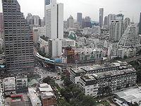 Panorámica de la ciudad de Bangkok desde uno de sus rascacielos