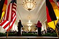 Barack Obama and Chancellor Angela Merkel in the East Room of the White House, Feb. 9, 2015.jpg