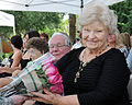 Barbara M. Miller, the mother of the Deputy Commanding General of the U.S. Army Reserve Command, Maj. Gen. Jon J. Miller, receives a bouquet of flowers during his retirement ceremony, held at Arizona State 121006-A-ZZ999-004.jpg