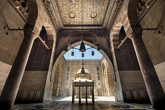 Mosque-Madrassa of Sultan Barquq - Interior with a sahn and four iwans