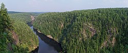 The Barron Canyon in Algonquin Park