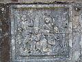 Bas relief - portement de croix Croix de cimetière de Saint-Thuriau.JPG