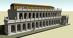 Computer generated reconstruction of the basilica as it appeared under Augustus
