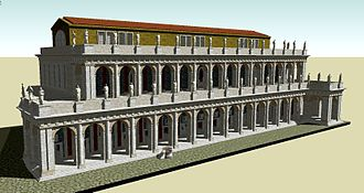 Basilica Aemilia - Computer generated reconstruction of the basilica as it appeared under Augustus