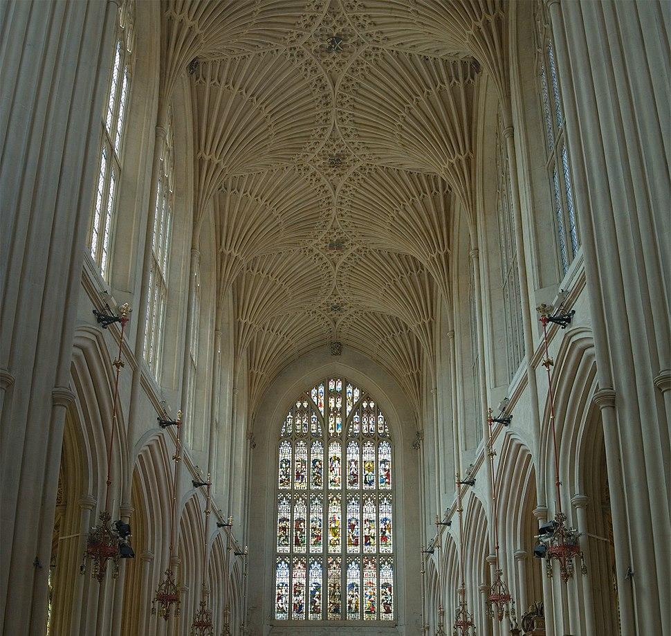 Bath Abbey Fan Vaulting - July 2006 crop