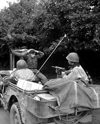M3 submachine gun - M3 in use in Brittany, France, August 1944
