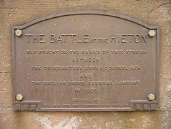 Battle of hieton plaque