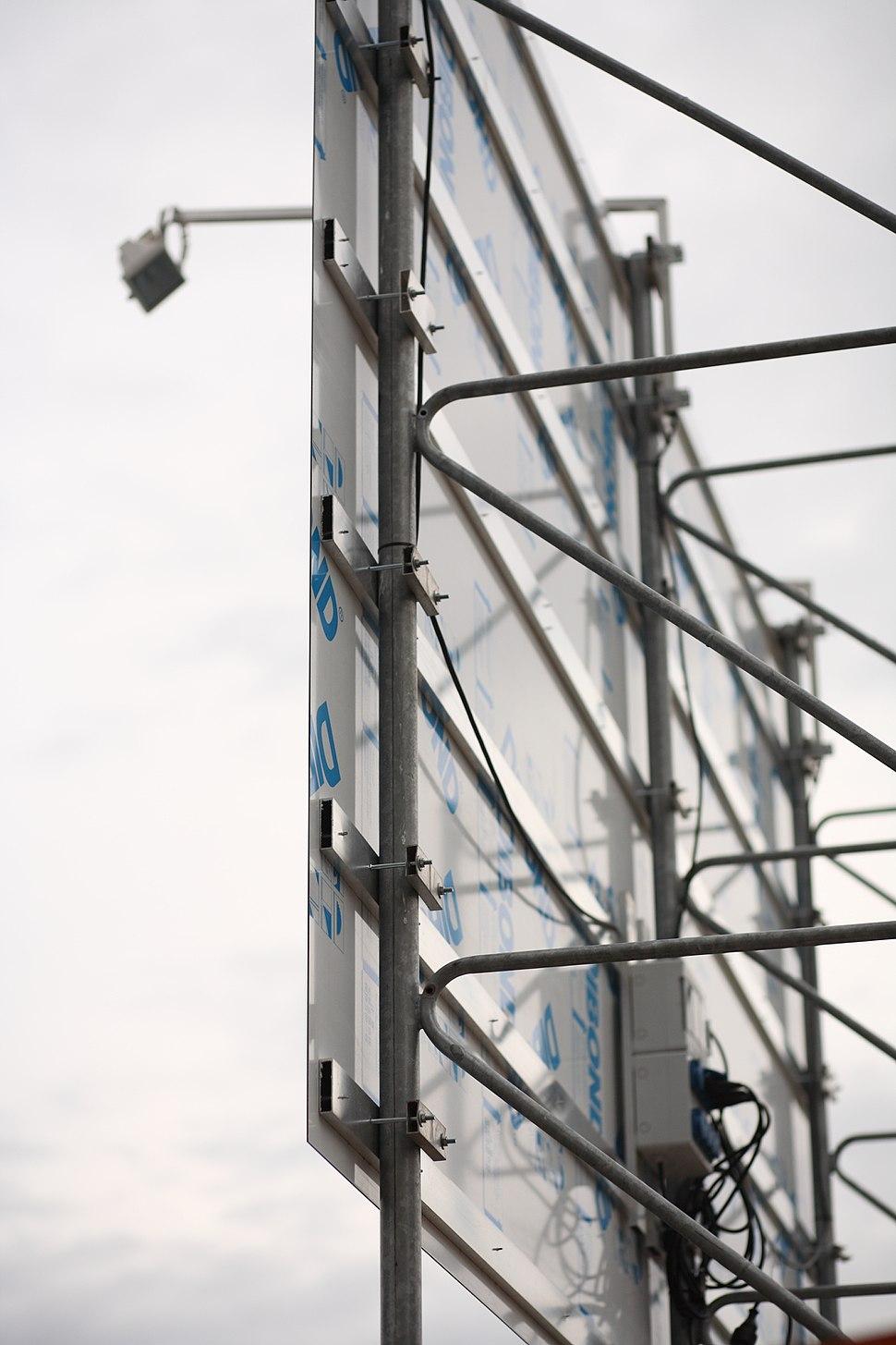 Baustellenschild Dibond Detailansicht