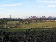 The Forth Bridges cross the Firth