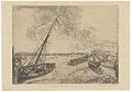 Beached Boats, print by James Ensor, 1888, Prints Department, Royal Library of Belgium, S. IV 84698.jpg