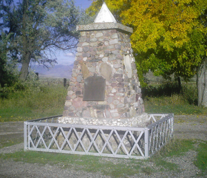 Bear River Massacre - A monument erected by the Daughters of Utah Pioneers commemorating the event.