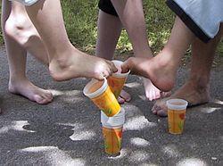 Die Behandlung gribka auf den Beinen von der Volksmethode