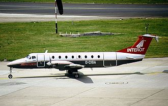 Augsburg Airways - A Beechcraft 1900 of Interot Airways at Düsseldorf Airport in 1990.