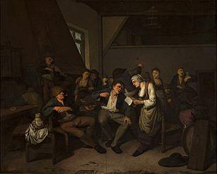 Scene at the inn.