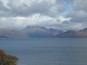 Beinn Sgritheall - Beinn Sgritheall seen from the Sleat peninsula, Skye