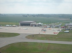 Harrison Township is the location of the Bellefontaine Regional Airport