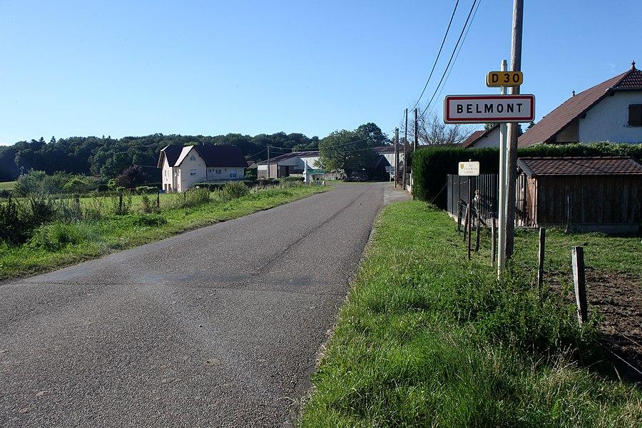 Entrée de Belmont (Doubs).