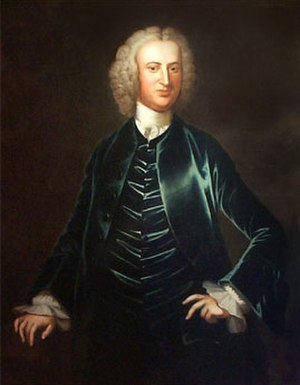 Charles Calvert, 5th Baron Baltimore - Benedict Swingate Calvert painted by John Wollaston c1754.