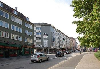 Bergstraße, Kreuzung Muhliusstraße