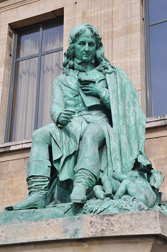 Statue of the writer Bernardin de Saint-Pierre in front of the before the Law Courts in Le Havre. Bernardin de Saint-Pierre statue Le Havre.jpg