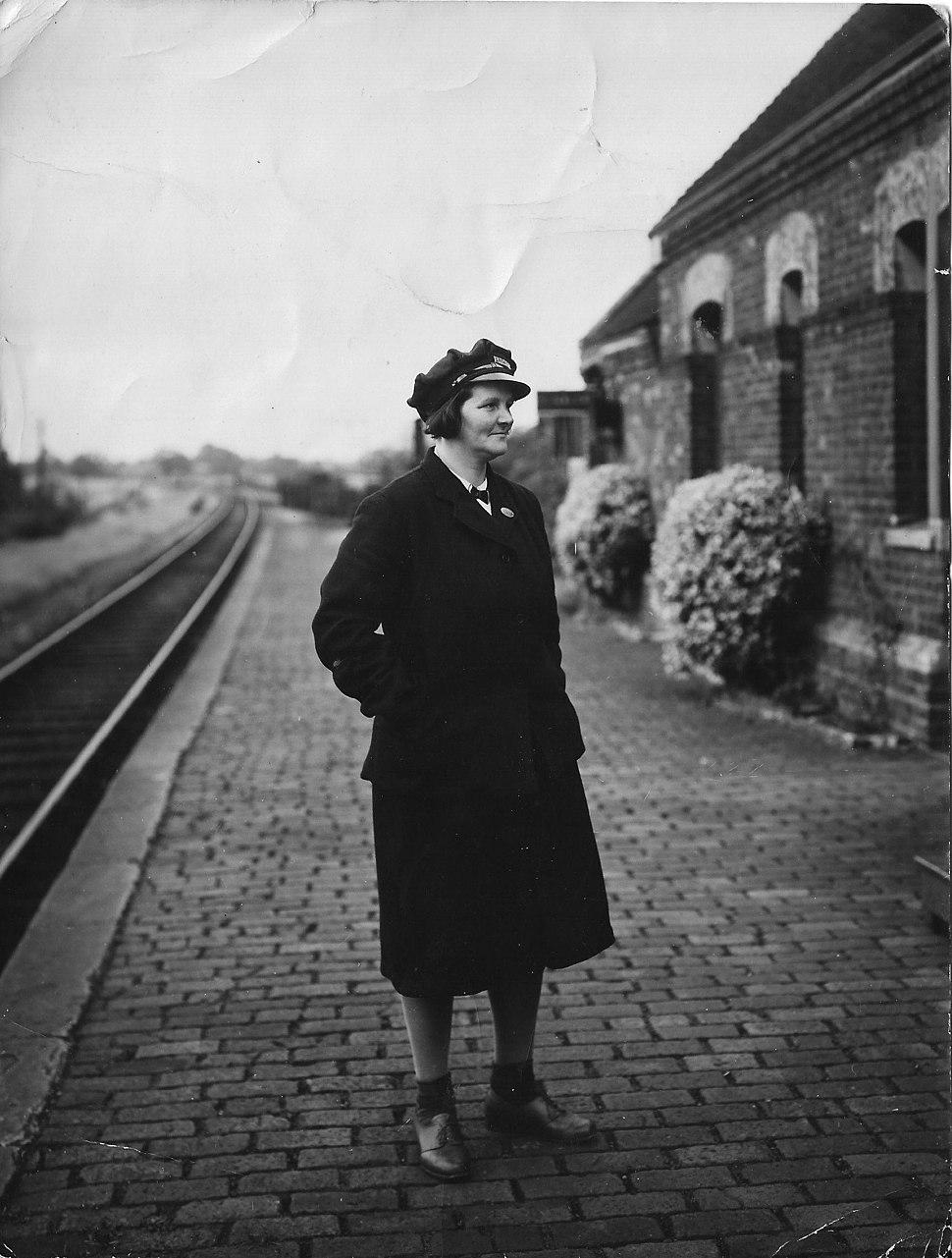 Bertha Allen Station Mistress Padbury Railway Station