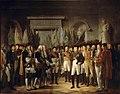 Berthon - Napoléon Ier reçoit au Palais Royal de Berlin, les députés du Sénat français, le 19 novembre 1806.jpg