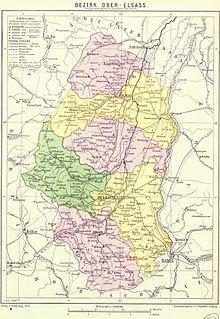Carte Haute Alsace.District De Haute Alsace Wikipedia