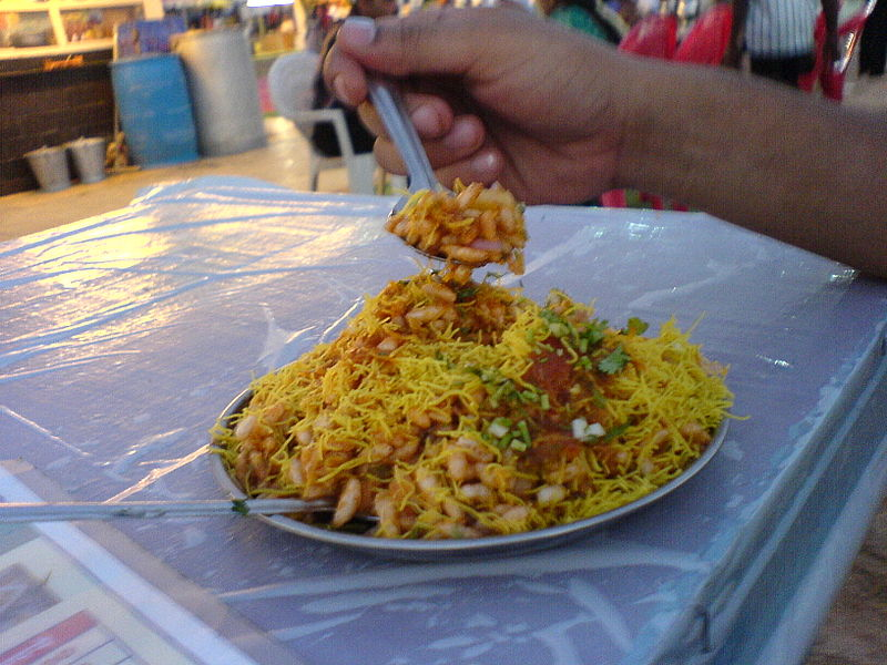 File:Bhel Puri at Juhu Beach.jpg