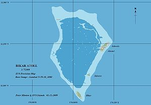 Bikar Atoll - Map of Bikar Atoll