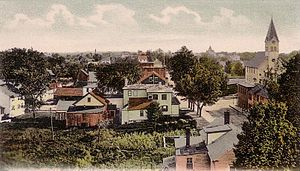 Epping, New Hampshire - Bird's-eye View in 1906