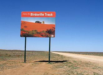 Birdsville Track - Sign at the northern end of the Birdsville Track