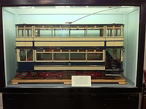 Birmingham Corporation Tramways - Model of a BCT tram, at the National Tramway Museum