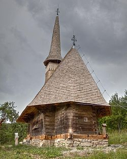 Wooden church in Măgura