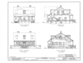 Bishop Michael Portier House, 307 Conti Street, Mobile, Mobile County, AL HABS ALA,49-MOBI,38- (sheet 2 of 9).png