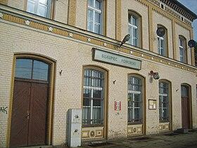 Bahnhof Biskupiec Pomorski