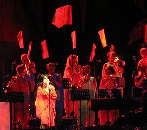 Björk Guðmundsdóttir performing at the Radio C...