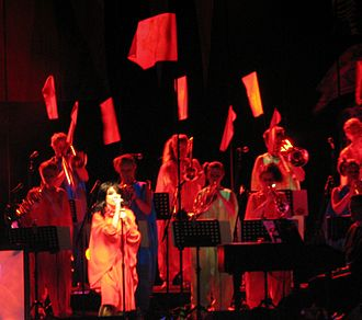 Volta (album) - Björk performing at the Radio City Music Hall in New York City.
