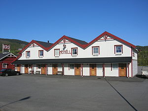 Motel - A motel in Bjerka, Norway
