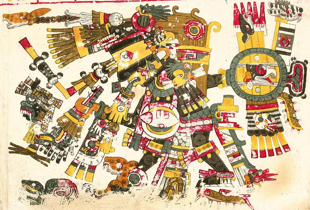 """""""Black Tezcatlipoca"""" von Unbekannt - Diese Rastergrafik wurde mit Adobe Photoshop erstellt. Lizenziert unter Gemeinfrei über Wikimedia Commons - https://commons.wikimedia.org/wiki/File:Black_Tezcatlipoca.jpg#/media/File:Black_Tezcatlipoca.jpg"""