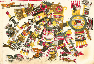 Aztec religion - Tezcatlipoca depicted in the Codex Borgia.