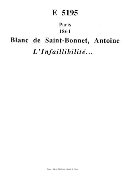File:Blanc de Saint-Bonnet - L'Infaillibilité.djvu
