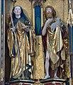 Blaubeuren Hochaltar Schreinfiguren links Benedikt Johannes Täufer.jpg