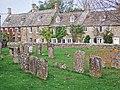 Bledington, cottages and churchyard - geograph.org.uk - 594846.jpg
