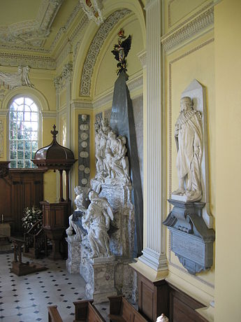 The Duke and Duchess of Marlborough's tomb in the chapel at Blenheim Palace, designed by William Kent Blenheim Palace IMG 3676.JPG