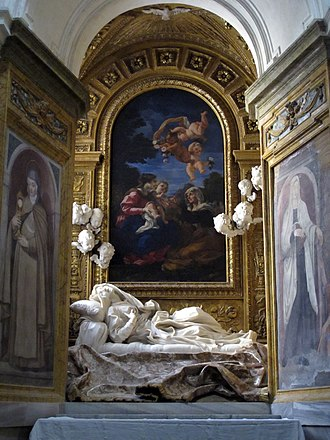 Ludovica Albertoni - Bernini's sculpture of Albertoni in the Altieri chapel of San Francesco a Ripa.